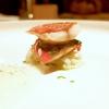 1999 - Triglia ripiena con pomodori e basilico su calamari croccanti e salsa al coriandolo