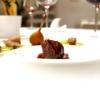 Piccione, mousse di piparelli, tartufo del Pollino, salsa al Carpano, sedano in due consistenze