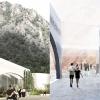 Il progetto della daneseBIG(Bjarke Ingels Group): recupera l'arco come elemento chiave d'interazione tra la fabbrica, il paese e il paesaggio