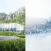 Il progetto dellanorvegeseSnøhetta: richiama tre elementi, la nuvola che diventa tetto, la verticalità della pioggia che diventa parete e il terreno come base