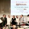 Foto di gruppo: si riconoscono Riccardo Felicetti, Eleonora Cozzella, Davide Scabin, Beppe Rambaldi, Paolo Marchi