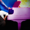 Cristiano Tomei, chef del ristorante L'Imbuto di Lucca, una stella Michelin, in un curioso scatto di Lido Vannucchi. «La sua insegna», ci racconta Anna Morelli,«offre una cucina creativa, dirompente come la sua personalità. All'interno del Museo di Arte Contemporanea di Lucca tutto è meraviglia e sorpresa». Un efficace cuoco simbolo del rinascimento gastronomico lucchese