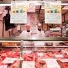 Il banco della carne al mercato Ticinese