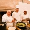 """Romano Tamanidel ristoranteAmbasciatadi Quistello (Mantova)ha presentato al pubblico """"Anoli ripieni di piccione"""", classici raviolini in brodo, una delle più tradizionali ricette della tradizione mantovana."""