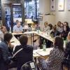 Alla tavola rotonda ha partecipato anche Wyle Dufresne, cuoco americano (in alto a sinistra)