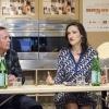 Moderatrice della tavola rotonda: Pavia Rosati, fondatrice di Fathom Away. Alla sua sinistra,David Hardie, direttore international brands di S.Pellegrino
