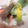 Paolo Trippini, Trippini, Baschi (Terni)  Uovo morbido, carote, nocciole e tartufo. Un classico della tradizione umbra arricchito dalla dolcezza della carota e la fragranza delle nocciole