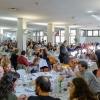 La sala della mensa dei poveri di OSF strapiena per il pranzo benefico in collaborazione con Identità Golose