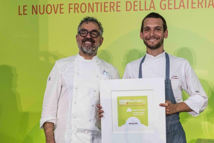 Mauro Uliassi con il pastry chefMattia Casabianca