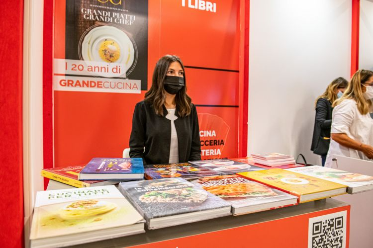Lo stand della rivistaItalian Gourmet