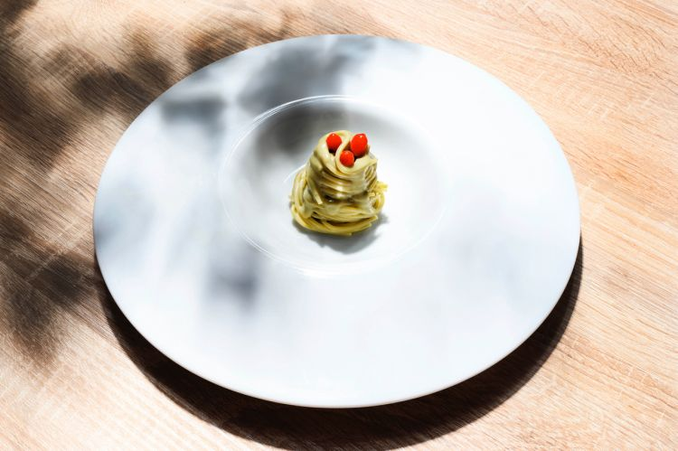 Capellino d'ostrica e bacche di goji