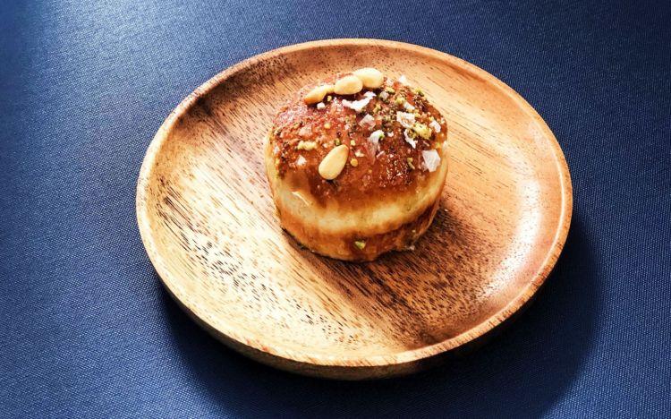 Mini pan briocheal miele e pistacchio