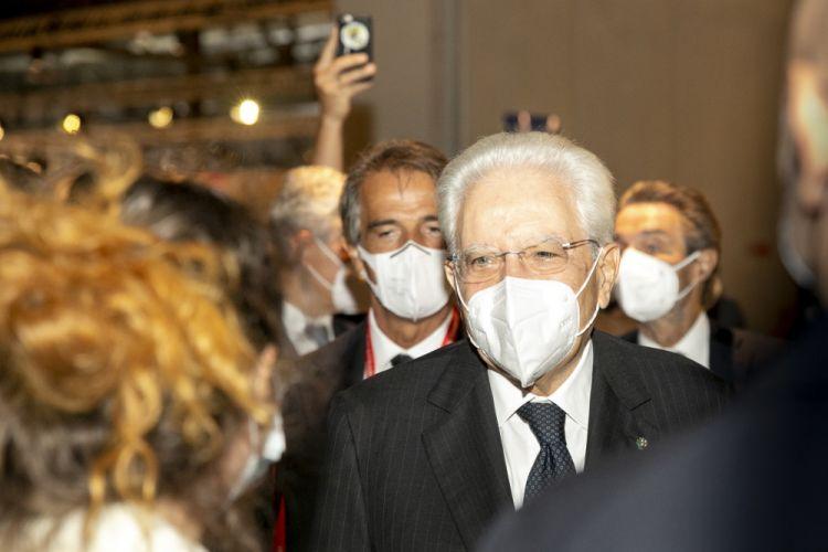President Sergio Mattarellaat the opening of the Supersalone