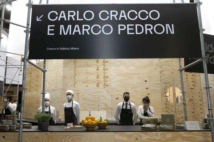 The Cracco - Pedronstandat the Food Courtof Identità Golose Milano
