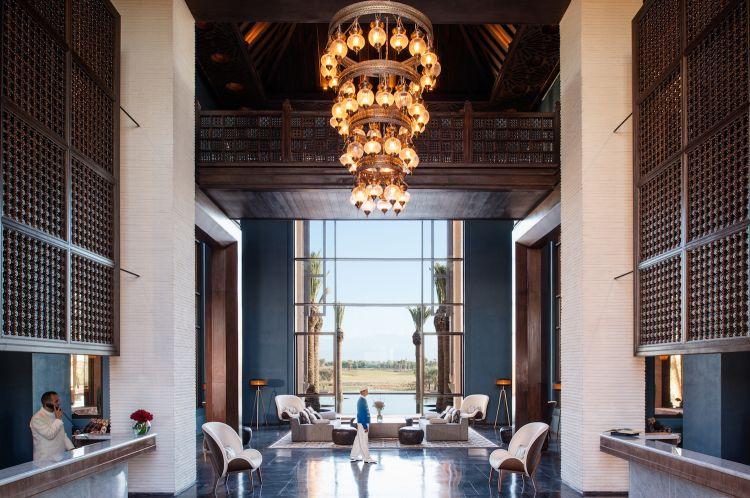 Immagini di uno degli hotel del gruppo Accor, questo è ilFairmont Royal Palm Marrakesh
