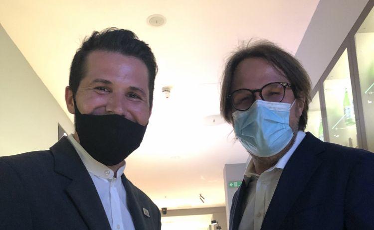 Enrico Miro, sommelier diCantine Nervi e Andrea Polini, maitre di Identità Golose Milano
