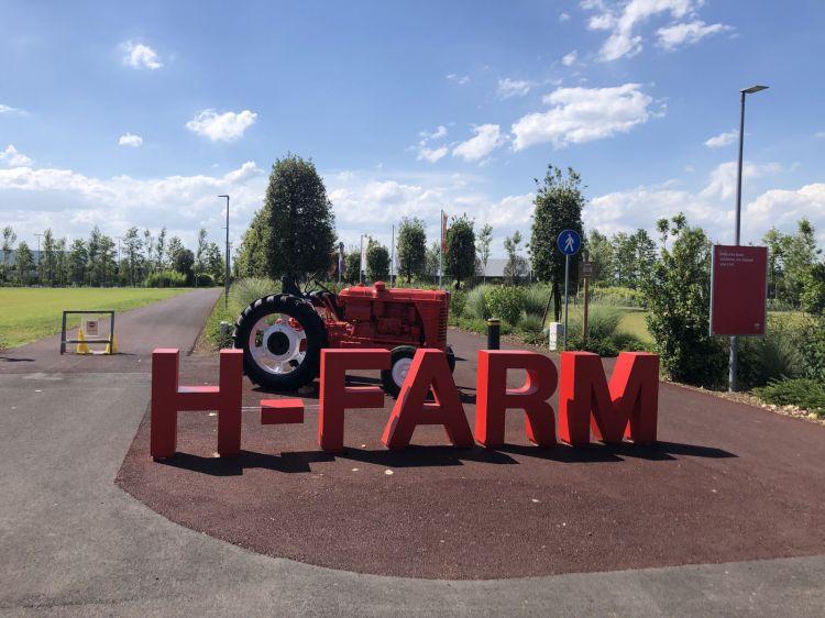The entrance to H-Farm