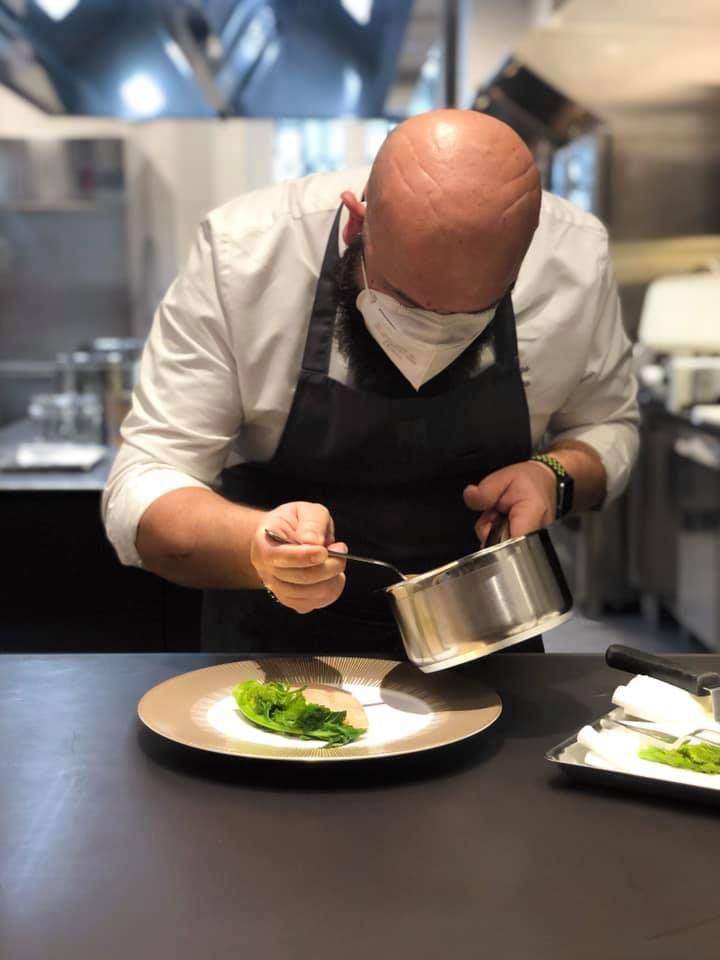 Domingo Schingaro nelle cucinedi Identità Golose Milano