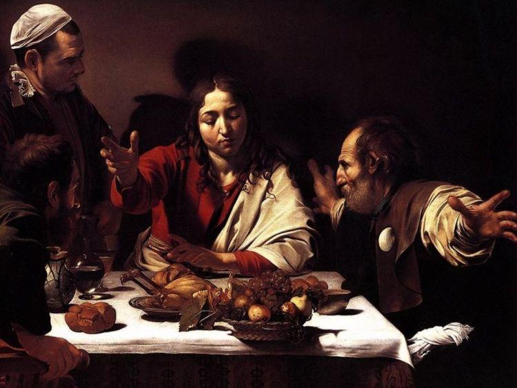 LaCena in EmmausnellaNational Gallerya Londra, quadro del Caravaggio il cui gioco di luci ha molto ispirato Groppi nel suo lavoro