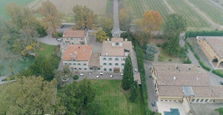 Casa Maria Luigia ripresa dal drone