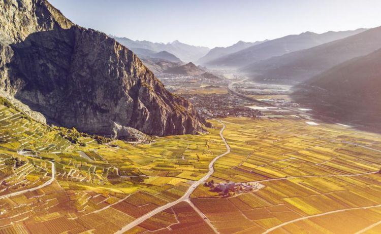 Veduta di Chamoson, 3mila abitanti nel cuore del Vallese (foto di Frederic Huber)