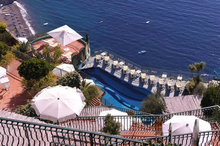 Terrazza mozzaffiato all'hotel Le Agavi