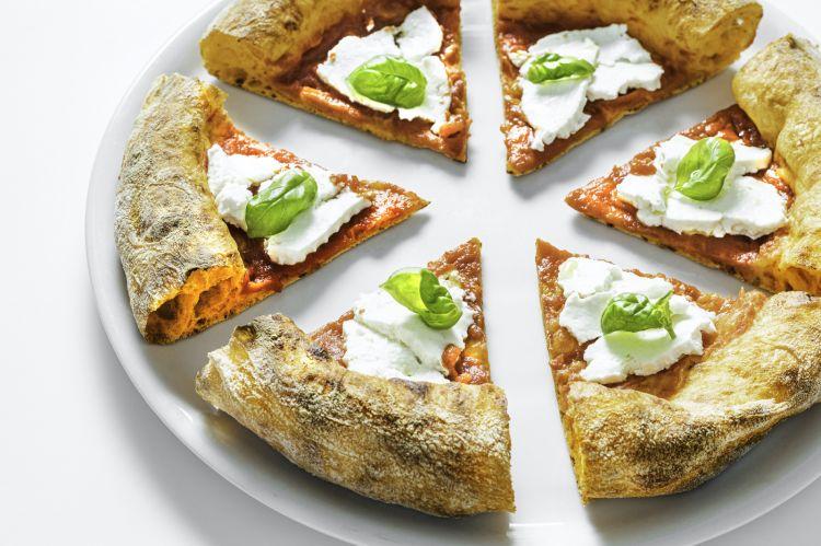 La pizza con la fermentazione del peperone