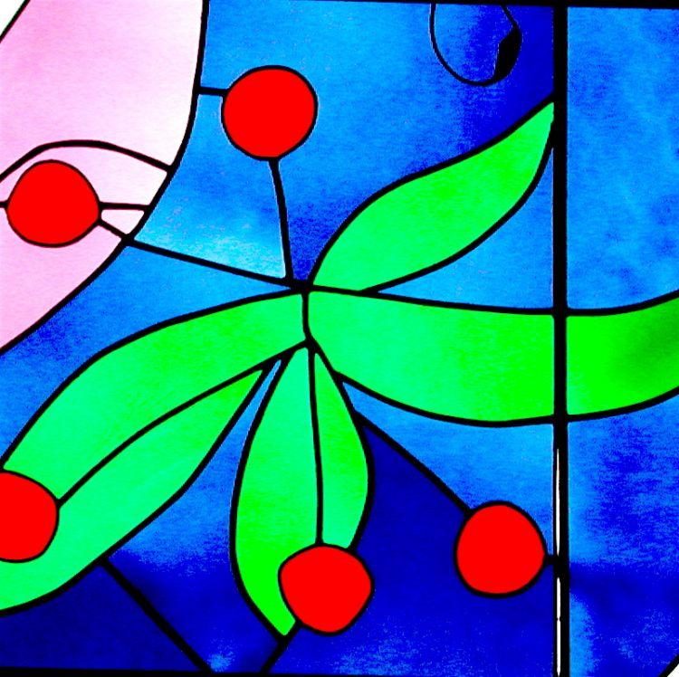 Una delle vetrate progettate da padre Costantino Ruggeri