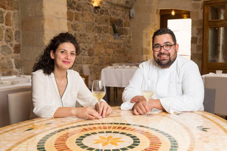 Katia e CosimoRusso, ristorante Cosimo Russo, Leverano (Lecce). Riapre martedì 19 gennaio, a pranzo