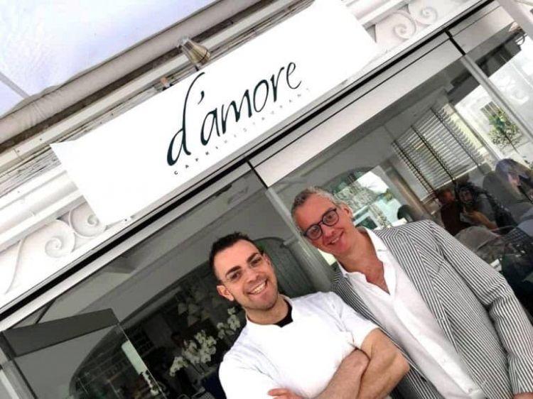 Rinaldo con il patron Marco D'Amore(foto Ugo Marchionne)