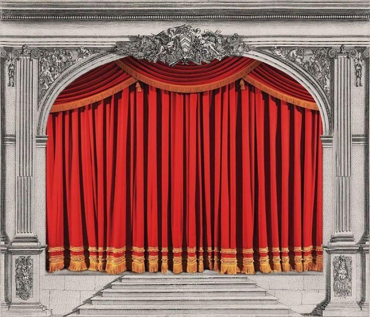 Il sipario del Teatro Rossini di Pesaro, ispirazione per la nuova imminente, piccola pasticceria del Nostrano