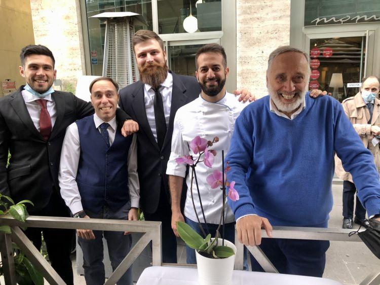 Lo staff del Moma: da sinistra a destra, Federico Silvi, Germano Pierini, Federico Cucchiarelli,Andrea Pasqualucci e Gastone Pierini