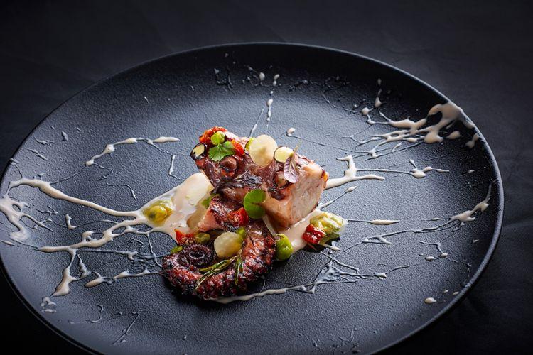 Un piatto del ristorante JB di Lubiana, chef Janez Bratovz