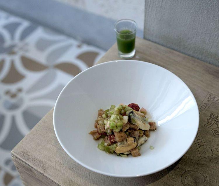 Panzanella di cozze di Mitilla(tutte le foto dei piatti sono diAndrea Moretti)