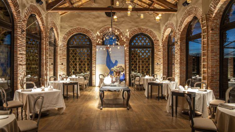 La sala del ristorante La Gallina