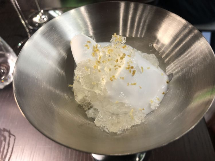 The dessert, a gentle new take on gin tonic