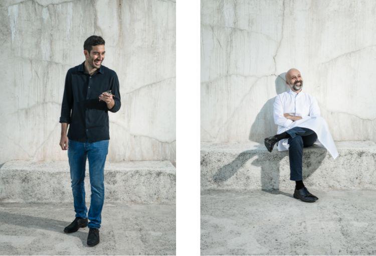 I PROTAGONISTI. Marco Cecchini, amministratore di farmacia (con dottorato in Banca e Finanza) e Niko Romito, cuoco e imprenditore