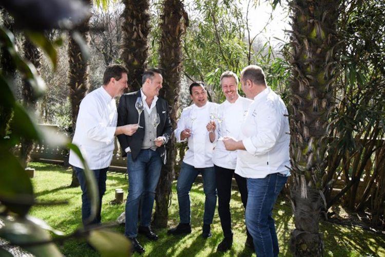 Chicco Cerea, Francesco Cerea, Roberto Villa, Paolo Rota e Bobo Cerea
