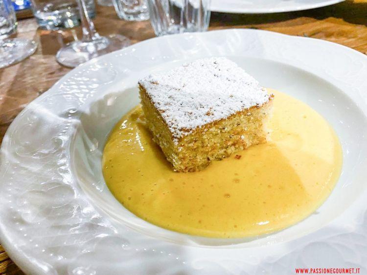 Torta di nocciole e zabaione (foto Passione Gourmet)