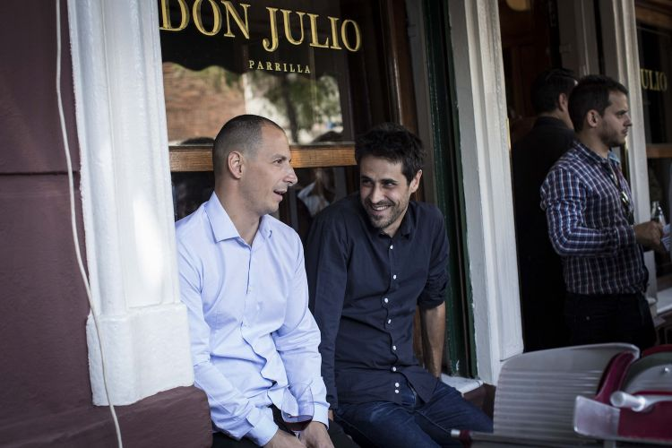 Pablo Riverowith his business partnerGuido Tassi