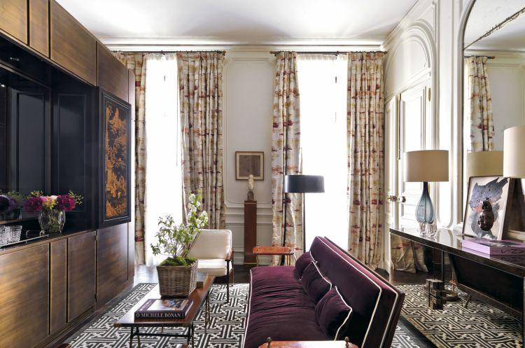 Il salotto della Suite Rive Gauche