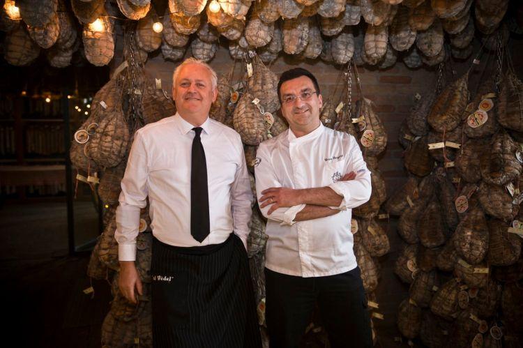 Enrico Bergonzi, a destra, con Marco Pizzigoni