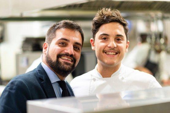 Daniele Lippi, a destra, con il restaurant manager di Acquolina, Benito Cascone