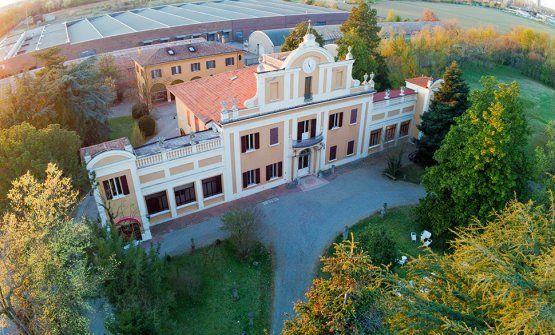 Villa Zarri vista dal drone