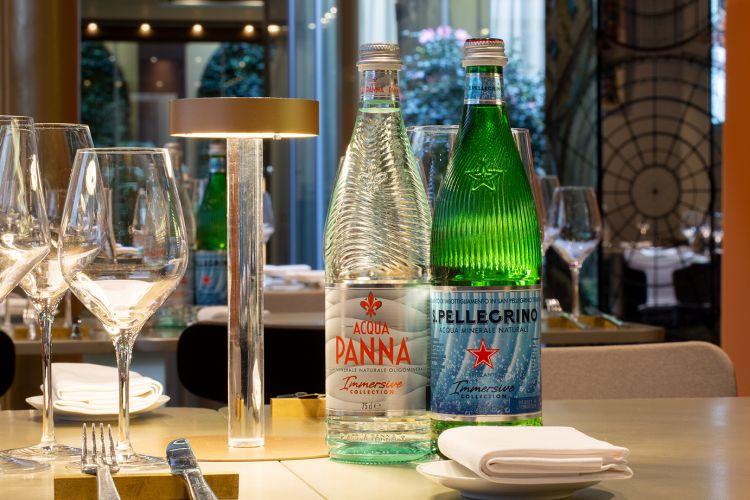L'elegante mise en place di Identità Golose Milano, hub di cucina internazionale in via Romagnosi 3, doveogni settimana si alternano grandi chef dall'Italia e dal mondo