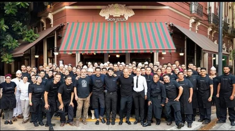 The team atDon Julio. As many as 120 people work withPablo, for a restaurant seating 180 people (pre-Covid)