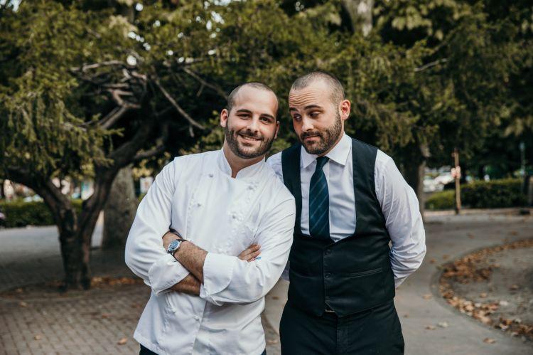 I fratelli Billi: lo chef Alessandro e il maître e sommelierFilippo