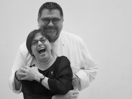 Angelo Sabatelli con la moglie Laura Giannuzzi