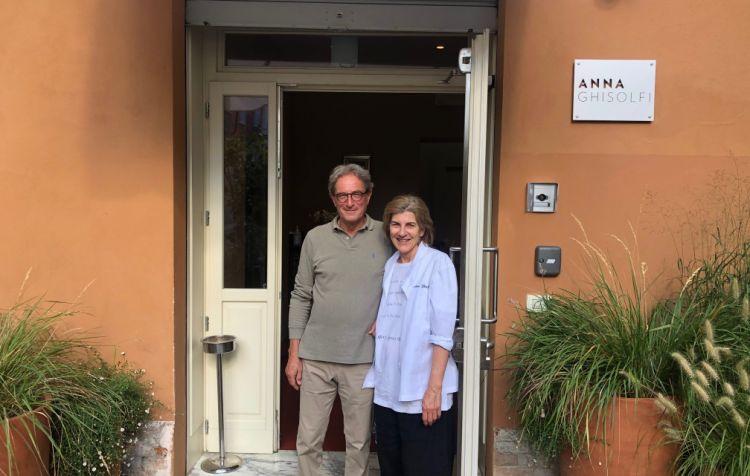 Anna Ghisolfi con il marito Enrico