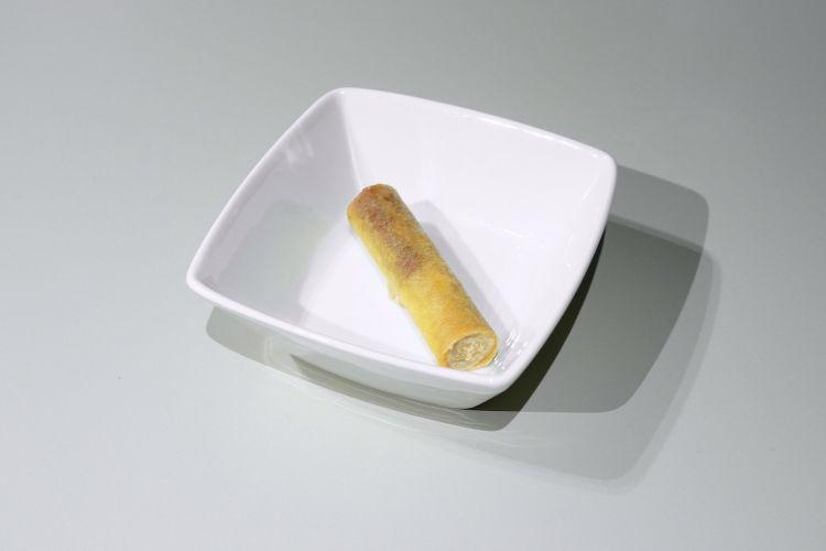 Cannolo alla norma fritto, spuma di ricotta infornata